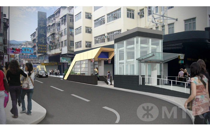 One entrance for To Kwa Wan Station will connect to Nam Kwok Road