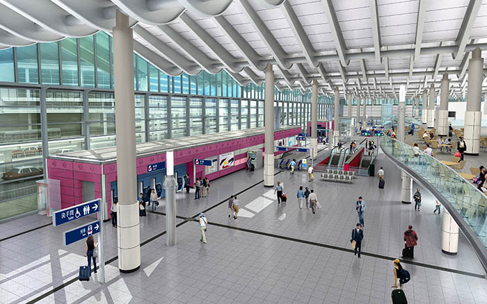 The new Hung Hom Station concourse after improvement works