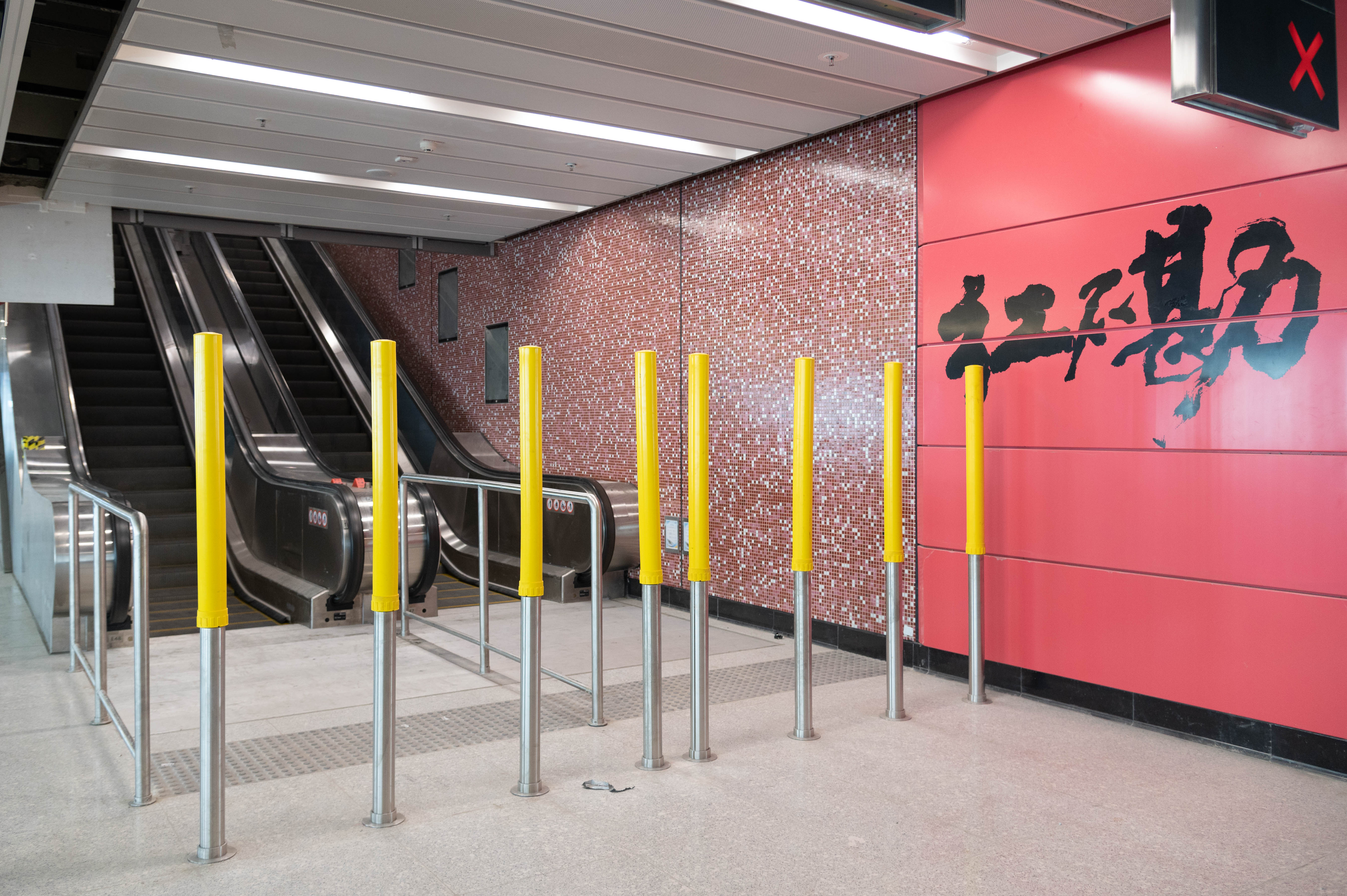 Improvement works at Hung Hom Station concourse in progress